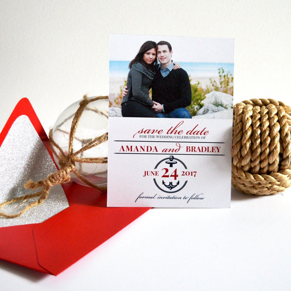 Nautical Anchor Save The Date