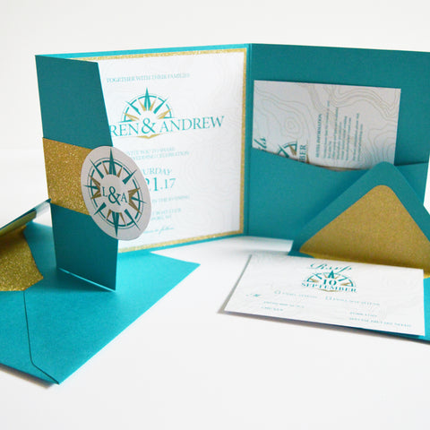 Navigating Love Wedding Invite Suite