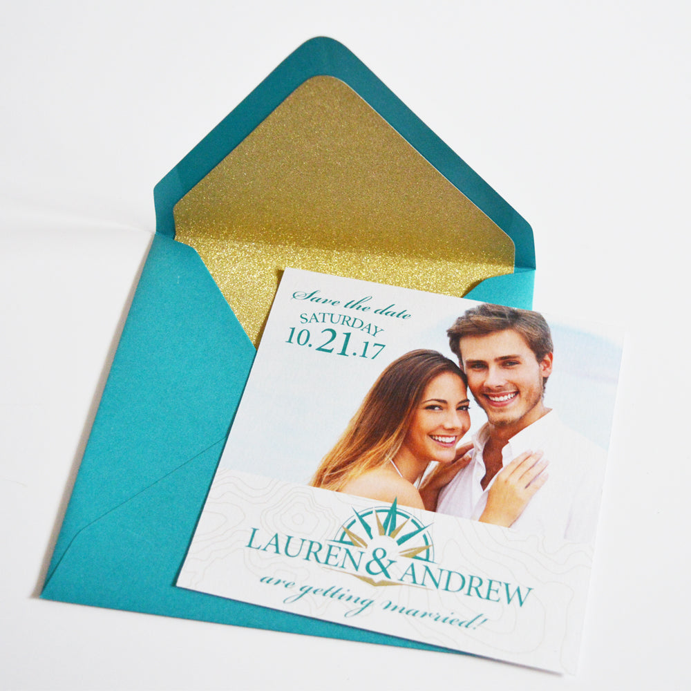 Save The Date - Navigation Love With Personalized Photo