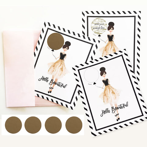 Scratch Off Hello Beautiful Personalized Card