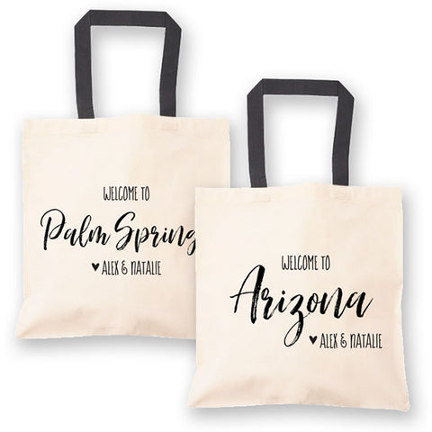 State Welcome Bag Tote Personalized