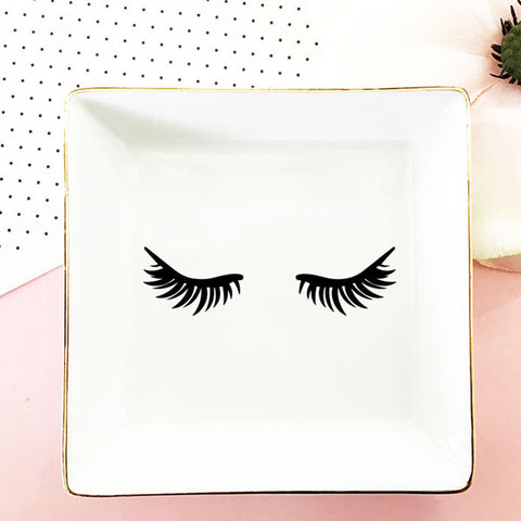 Theme Ring Colored Ring Dish Script & Eye Lashes