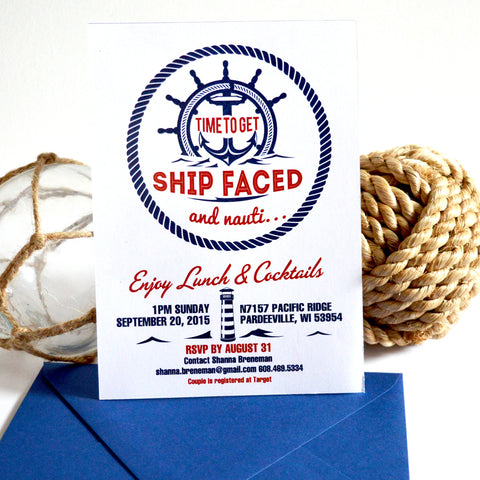 Nautical Time To Get Ship faced Invitation