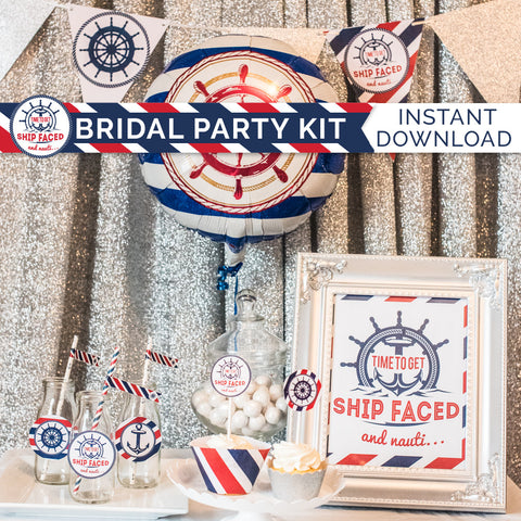 Shipfaced And Nauti... Bridal Party Kit - Digital Download