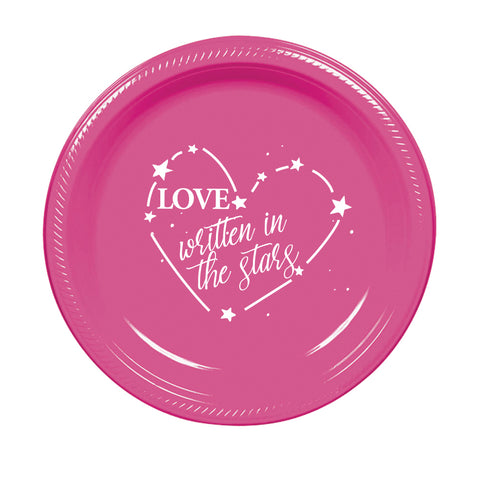 Love Written in the Stars - Cake Plates