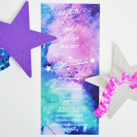 Galaxy Wedding Program