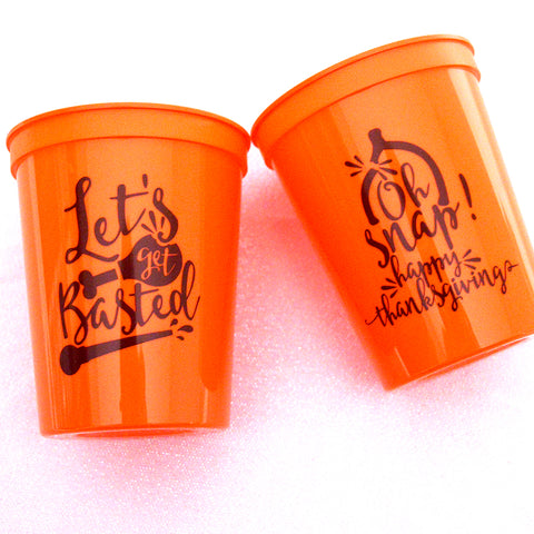 Let's Get Basted! Thanksgiving Cups - Set of 12