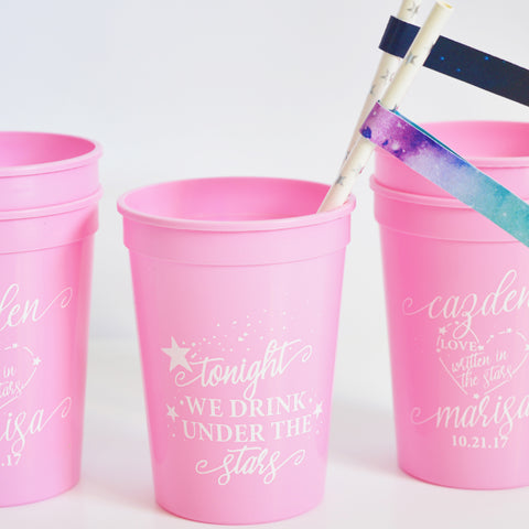 Tonight We Drink Under The Stars 16 oz Party Cups