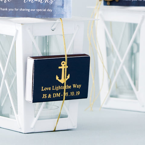 Personalized Wedding Matches - Anchor Matchbox