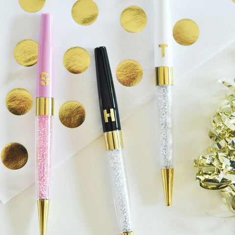 Personalized Gold Monogram Pens - Set of 3