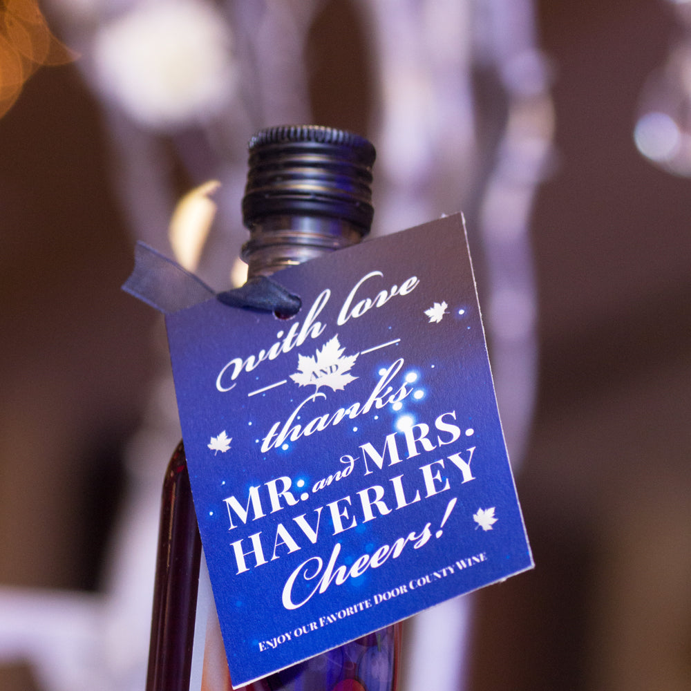 Fall in Love Blue Starry Wedding Favor Tag