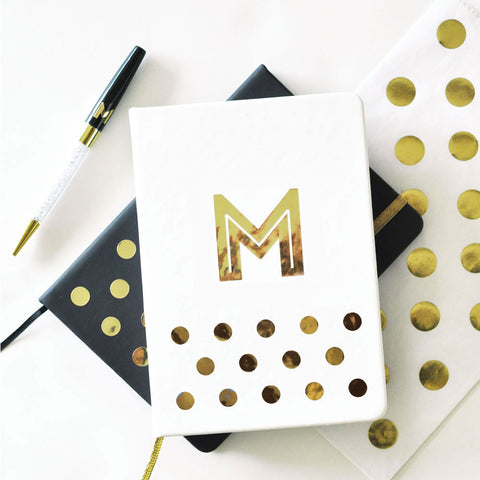 Personalized Gold Monogram Journal & Notebook