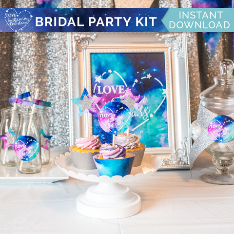 Love Written In The Stars Bridal Party Kit - Digital Download