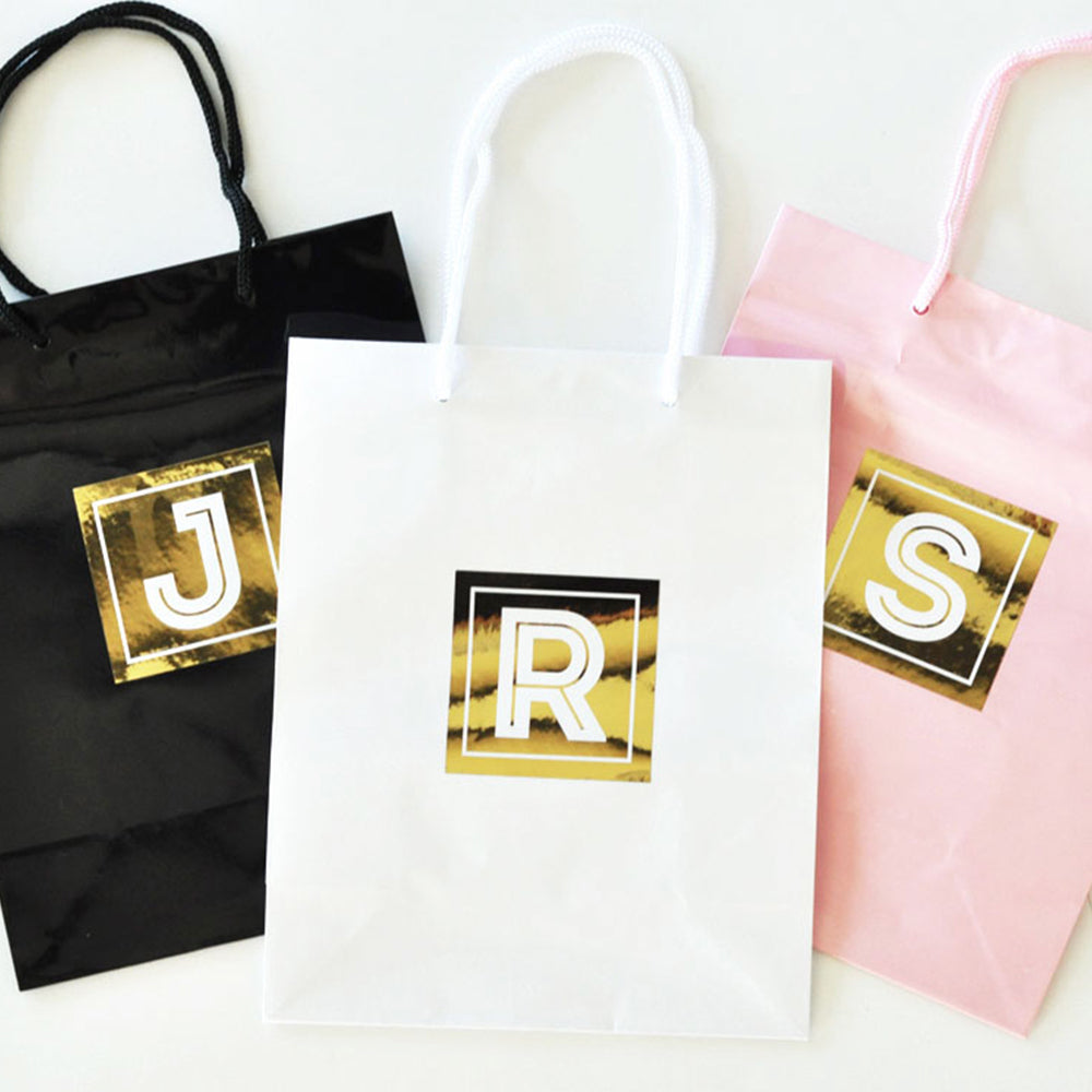 Metallic Foil Gold Gift Bags