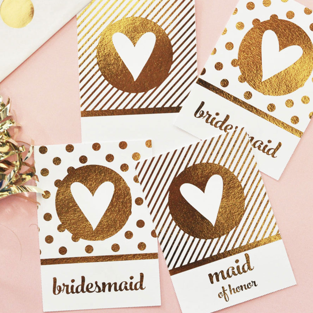 Metallic Foil Gold Foil Gift Tags