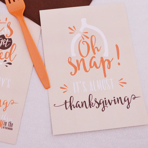 Let's Get Basted! Thanksgiving Invitation