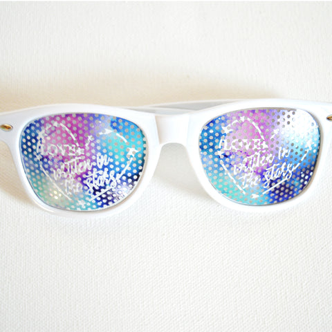 Personalized Galaxy/Star Sunglasses - Bridal Party Sunglasses