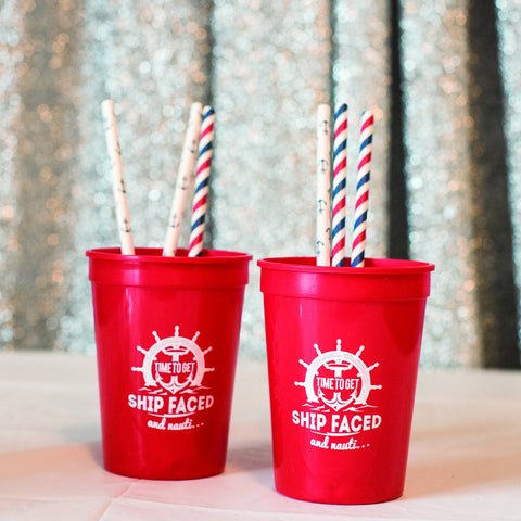 Time To Get Shipfaced and Nauti... 16 oz Party Cups