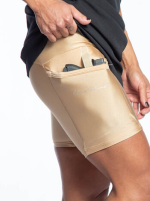 Nude Outer Thigh Holster Concealed Carry Shorts