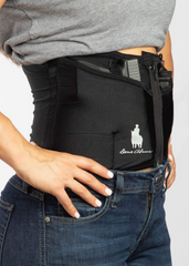 Black Zipper Concealed Carry Corset Holster