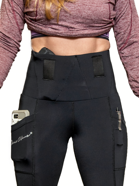 PHANTOM 2 BLACK CAPRI CONCEALED CARRY LEGGINGS