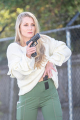 PHANTOM 2 OLIVE CONCEALED CARRY LEGGINGS