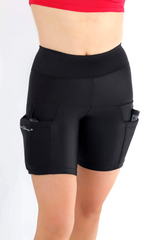 Black Outer Thigh Holster Shorts