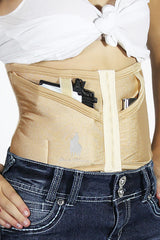 Petite Natural Concealed Carry Corset Holster