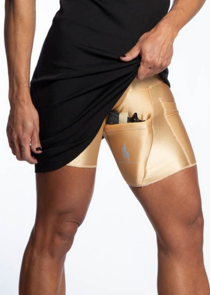 Nude Body Shaping Thigh Holster Concealed Carry Shorts