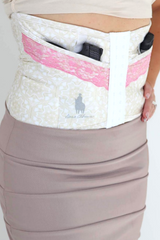 Tan and ivory pattern concealed carry corset holster from Dene Adams