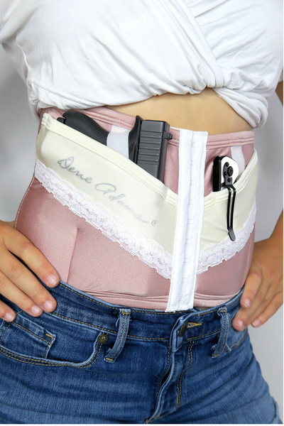 Petite Dusty Rose Concealed Carry Corset Holster