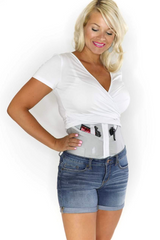 Petite Silver Concealed Carry Corset