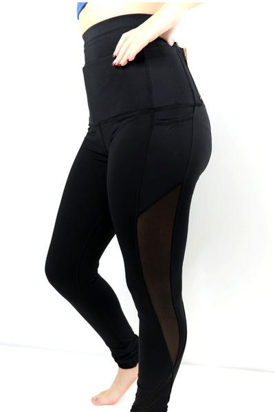 Black Classic Concealed Carry Tactical Leggings
