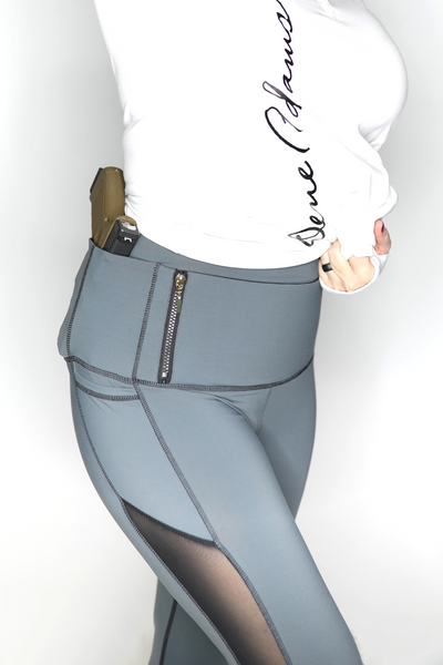 Grey Classic Concealed Carry Tactical Leggings