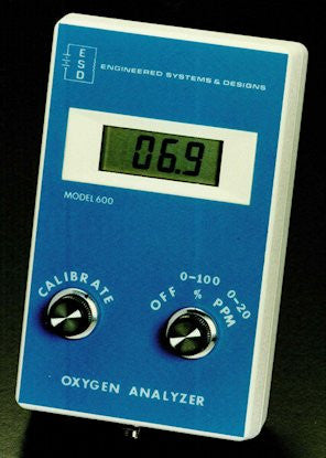01-OXAN Model 600 Oxygen Analyzer with 5 ft. cable length