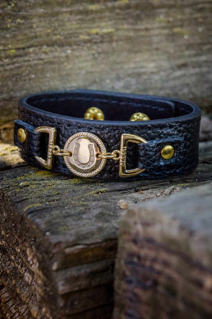 Leather Horseshoe Cuff