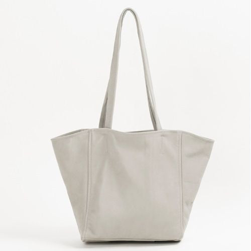 Italian Leather Tote Bag (Grey)