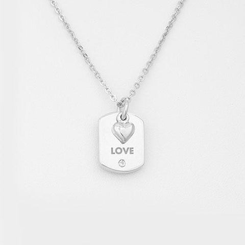"Military ""Inspire"" Necklace - Angel Wing Charm"