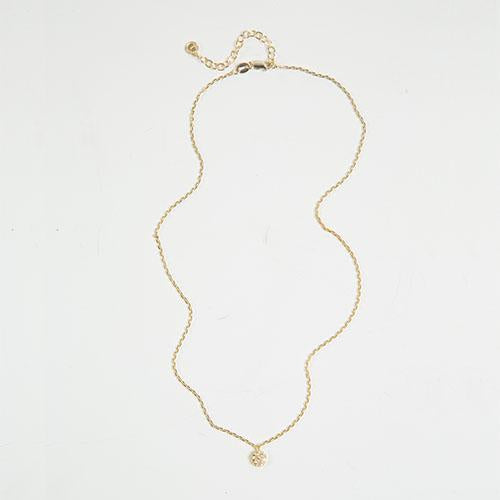 Gold Vermeil Swarovski Necklace - Circle
