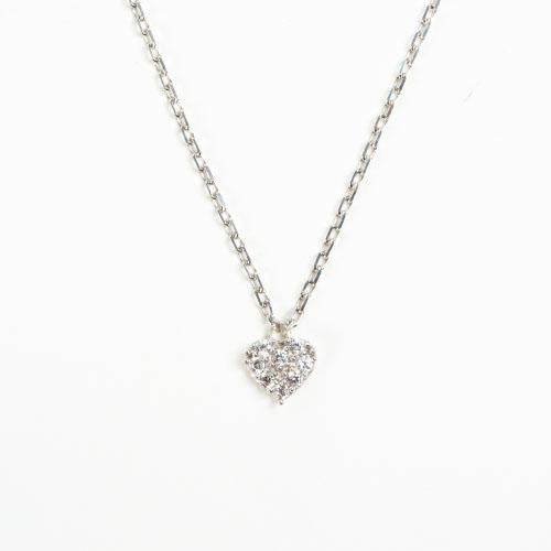 Sterling Silver Swarovski Necklace - Heart
