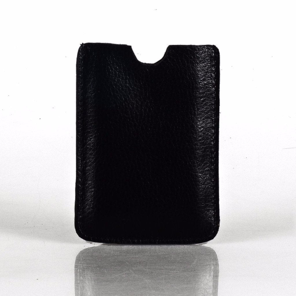 Leather Tablet Sleeve + Purse Pouch Set - Black