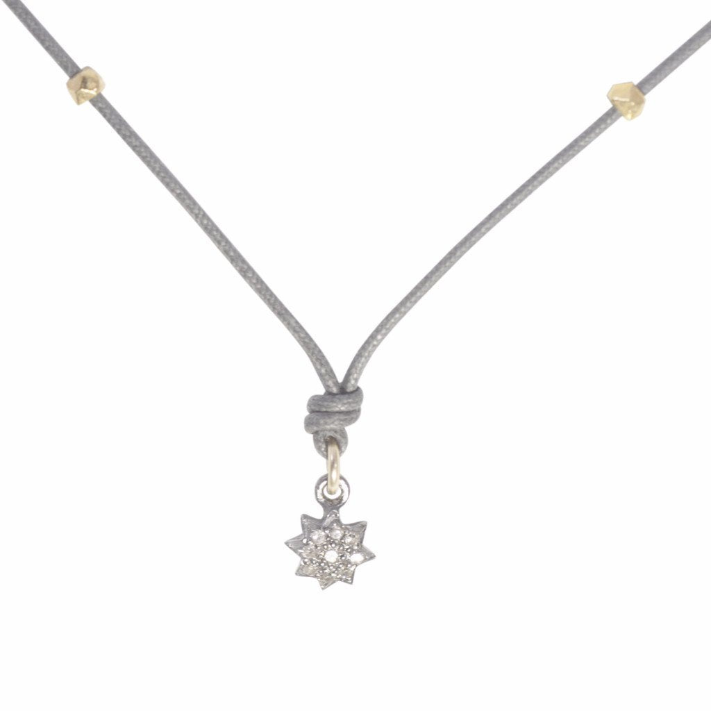 Champagne Diamond Necklace (Star)