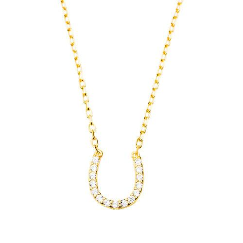Horseshoe Necklace (Gold)