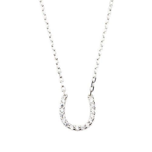 Horseshoe Necklace (Sterling Silver)