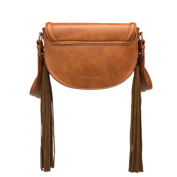 Lennon Tassel Crossbody (Saddle)