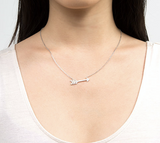 Sterling Silver Cupid's Arrow Necklace