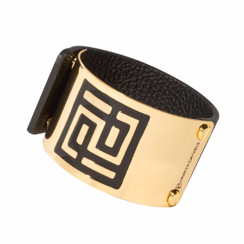 Leather Palm Springs Cuff (Black)