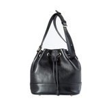 Leather Bucket Bag (Black)