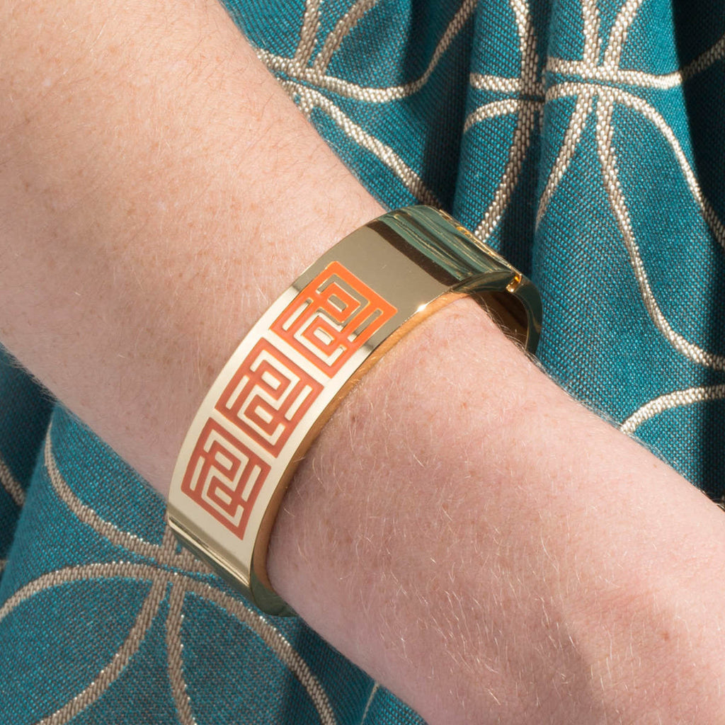Palm Springs Bracelet (Orange Peel & Gold)