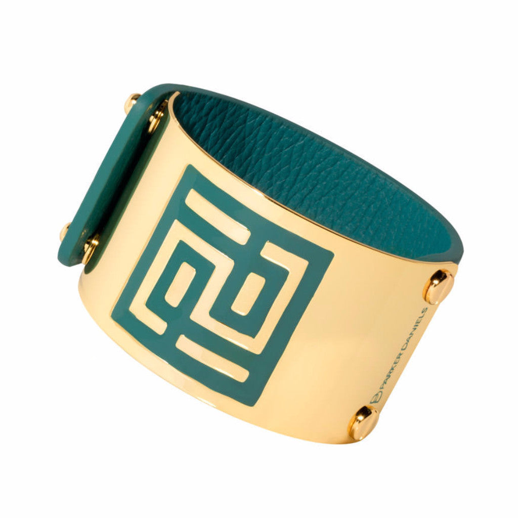 Leather Palm Springs Cuff (Atlantic Blue)